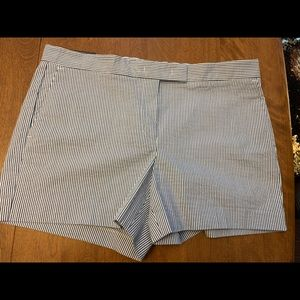 Ann Taylor Blue and White pinstriped shorts